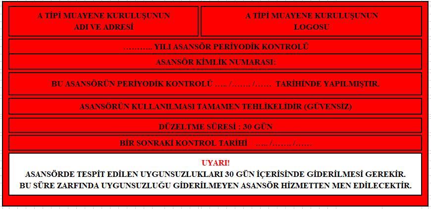 Asansör,Etiketleri,Ankara